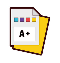 Full color education qualification school vector