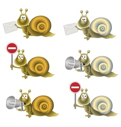 funny snail vector image vector image