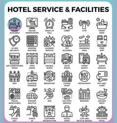 Hotel service facilities vector