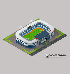 isometric soccer stadium vector image vector image