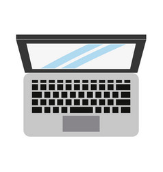 laptop computer icon image vector image