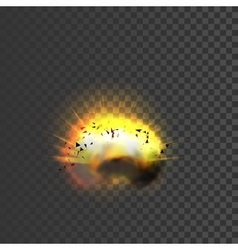 New realistic explosion icon vector