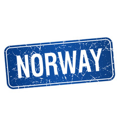 Norway blue stamp isolated on white background vector