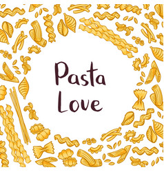 pasta elements background with vector image vector image