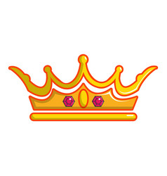 Queen crown icon cartoon style vector