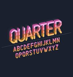 Retro bold font design typeface typography vector
