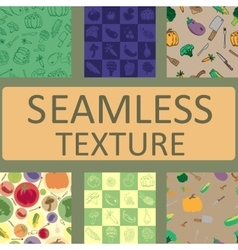 seamless texture vegetables and fruits set vector image vector image