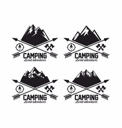 Set of logos for the camp vector