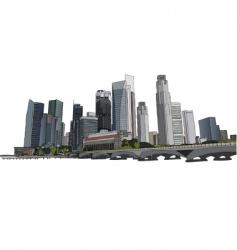Singapore cityscape vector