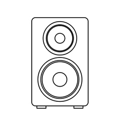 Speaker audio device icon vector