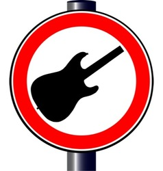 Spoof guitar traffic sign vector