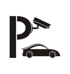 Symbol of guarded parking vector image vector image