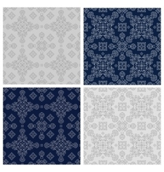The set of simple linear seamless patterns vector image