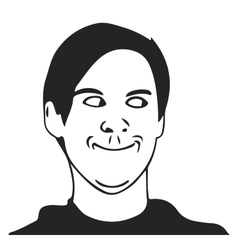 troll guy meme face for any design vector image vector image
