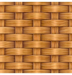 wooden basket weaving vector image
