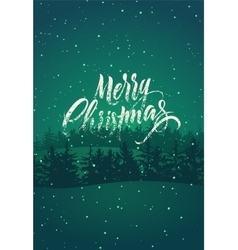 Calligraphic retro christmas card design vector