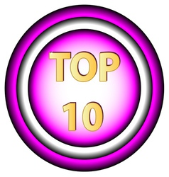 Top ten icon vector