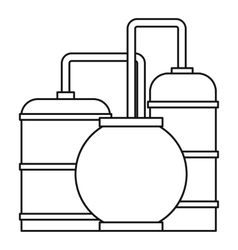 Oil refinery icon outline style vector