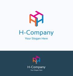 H company logo vector image