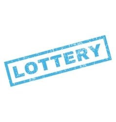 Lottery rubber stamp vector