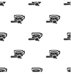 cup of tea icon in black style isolated on white vector image
