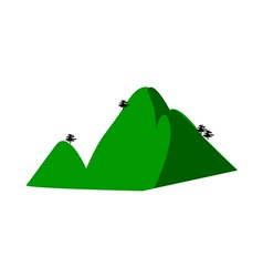 A view of a mountain vector