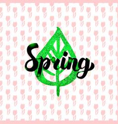 Spring handwritten card vector