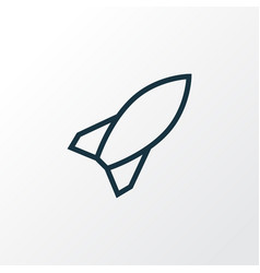 Rocket outline symbol premium quality isolated vector