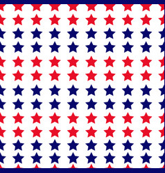 Independence day seamless pattern with stars vector