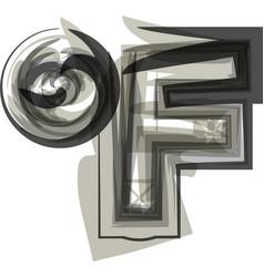 Abstract fahrenheit symbol vector