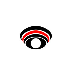 logo symbol abstract eye with white pupil with vector image