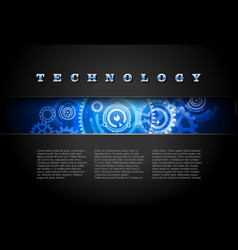 Techno background blue vector