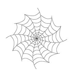 Black Cobweb Isolated on White Background vector image