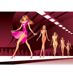 Fashion models on review vector image
