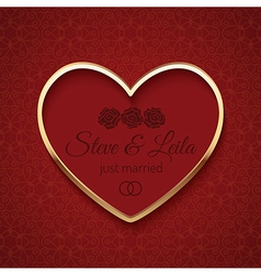 Just married wedding sign vector image