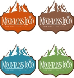 Mountain design creative vector