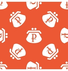 Orange ruble purse pattern vector