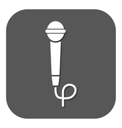 The microphone icon sound symbol flat vector