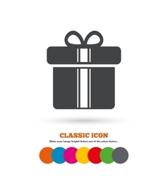 Gift box sign icon present symbol vector