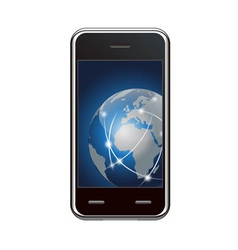 Smart phone and global network vector