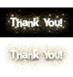 Thank you paper banners vector
