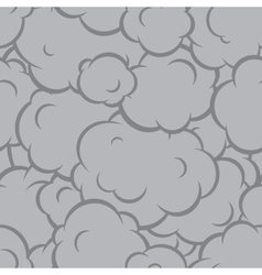 Pop art smoke seamless pattern grey vector image