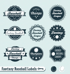 Fantasy baseball labels vector