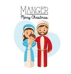 Manger icon merry christmas design vector