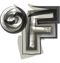 Abstract fahrenheit symbol vector