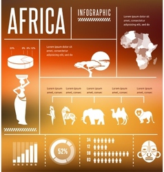 Africa - infographics and background vector image vector image