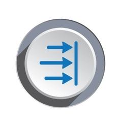 Arrow to right icon move direction cursor sign vector