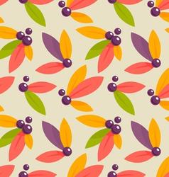 Autumn berries pattern vector