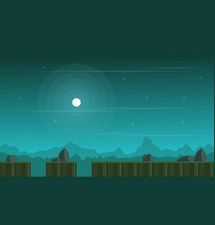 Background game with hill scenery vector