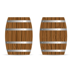 Barrel two icon in brown vector